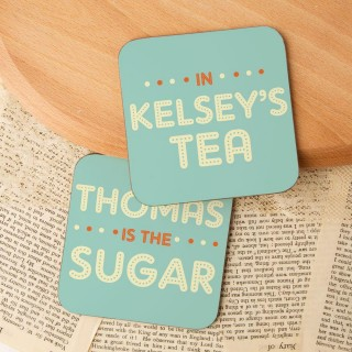 Romantic the Sugar in my Tea Double Coaster Set