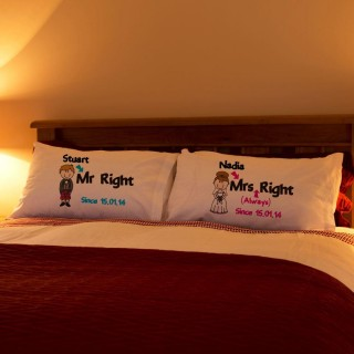 Scottish Mr Right & Mrs Always Right Pillowcase Set