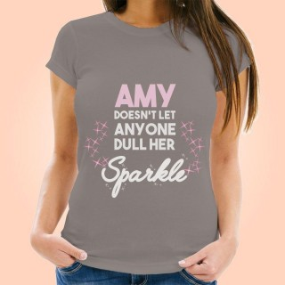 Customised Dont Dull Her Sparkle Womens T-Shirt