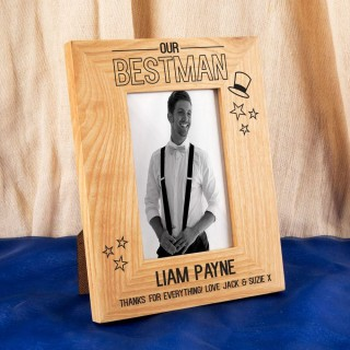 Customised Best Man Oak Frame