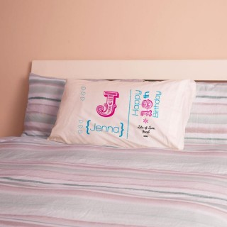 Personalised 18th Birthday Letter Pillowcase For Girls