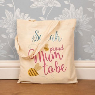 Custom Made Mum to Be Cotton Shopper