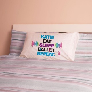 Personalised Eat Sleep Ballet Repeat Pillowcase