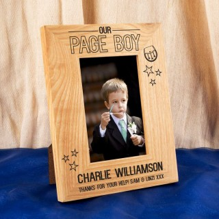 Scottish Page Boy Oak Photo Frame