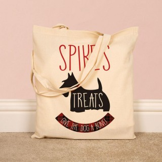 Personalised Dog Treat Cotton Bag