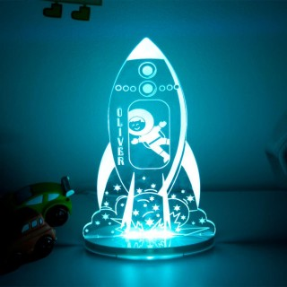 Personalised Rocket Night Light