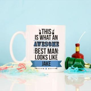 Personalised Awesome Best Man Mug