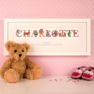 Personalised Christening, Dedication Etc Name Frame