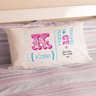 Personalised 13th Birthday Letter Pillowcase For Girls
