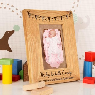 Customised Bunting Oak Frame: Portrait