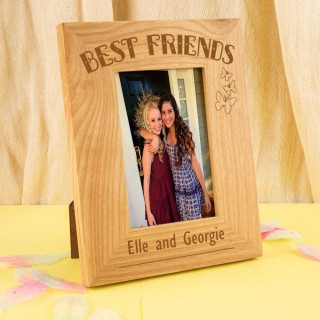 Personalised Best Friends Oak Frame