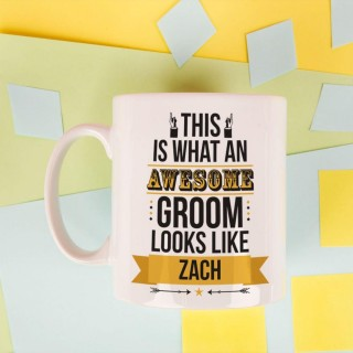 Personalised Awesome Groom Mug