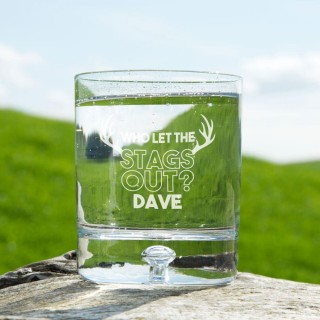 Personalised Who let the Stags out Tumbler Glass