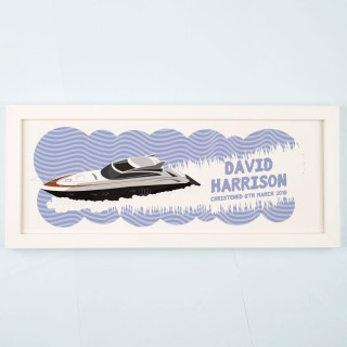 Personalised Boat Framed Print