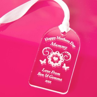 Personalised Mothers Day Acrylic Tag