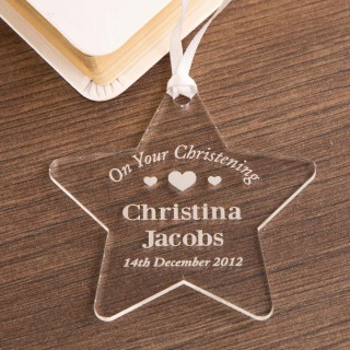 Acrylic Christening Star