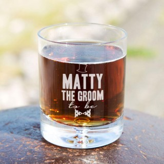 Personalised Groom To Be Tumbler Glass