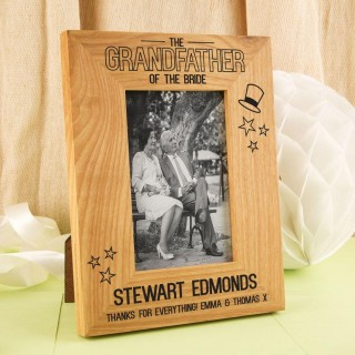 Personalised Grandfather of the Bride Frame