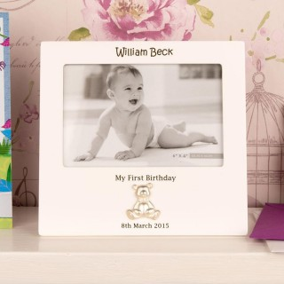 Personalised 1st Birthday Teddy Bear Frame