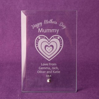 Personalised Mothers Day Glass Plaque