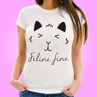 Feline Fine Womens T-Shirt