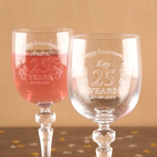 Anniversary Crystal Glassware