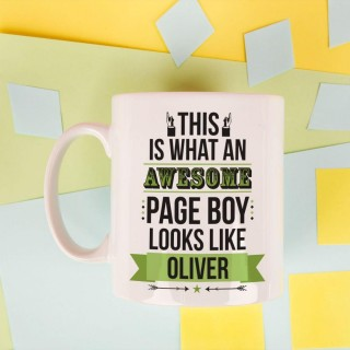 Personalised Awesome Page Boy Mug