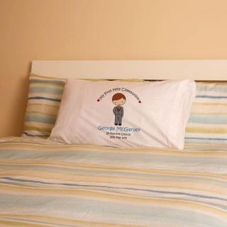 Personalised Boys Communion Pillowcase