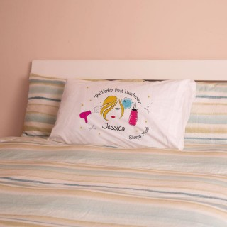 Personalised Worlds Best Hairdresser Pillowcase