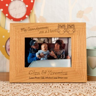 Personalised Grandparents Oak Frame