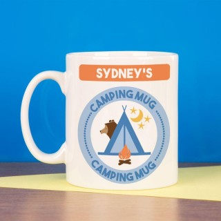 Personalised Camping Bear Mug