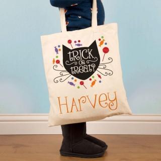 Trick or Treat Customised Halloween Shoulder Bag