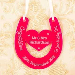 Personalised Wedding Day Horse Shoe