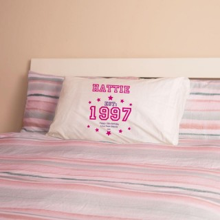 Girls 18th Birthday Established Year Pillowcase