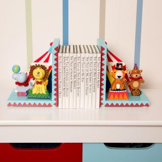 Wooden Vintage Circus Bookends