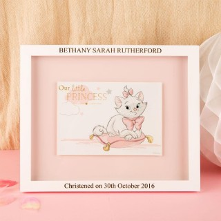 Aristocats Marie Print with Engraved Frame: Christening