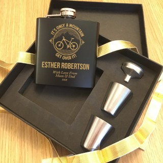 Only a mountain Hip Flask Cycling Gift