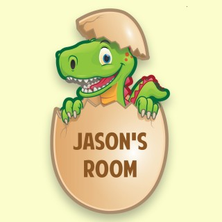Customised Dinosaur design Bedroom Door Plaque with Name