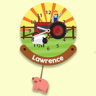 Personalised Childrens Farm Wall Clock