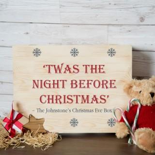 Family Christmas Eve Box. Personalised Night Before Christmas Design.
