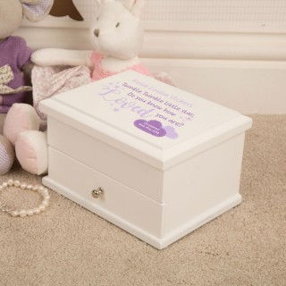 Twinkle Twinkle Personalised Christening Jewellery Keepsake Box