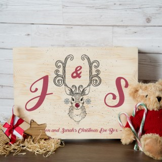 Personalised Rudolph Head Christmas Eve Box