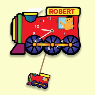 Kids Bespoke Train Silent Wall Clock
