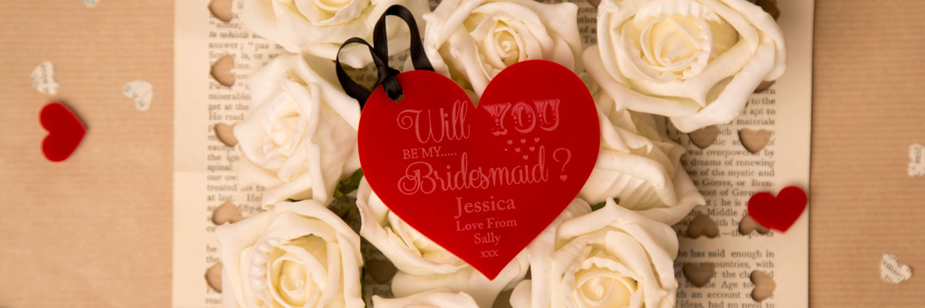 Will you be my Bridesmaid Acrylic Keepsake.
