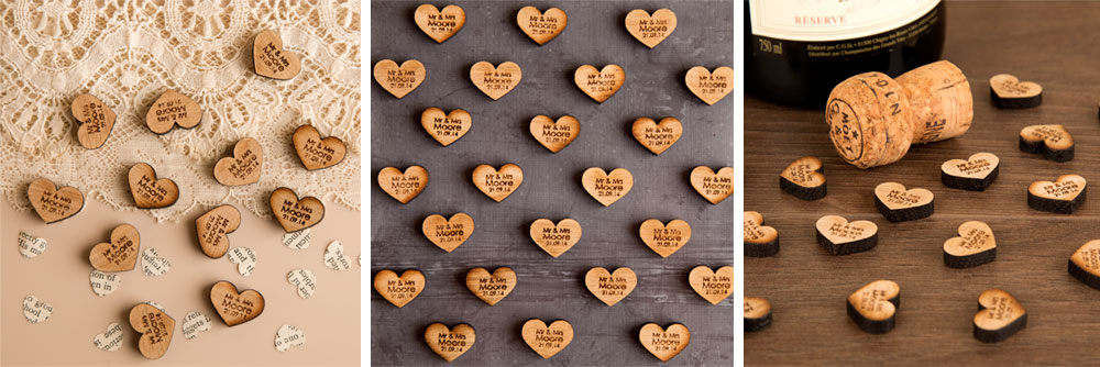 Win 100 Wooden Personalised Table Decorations