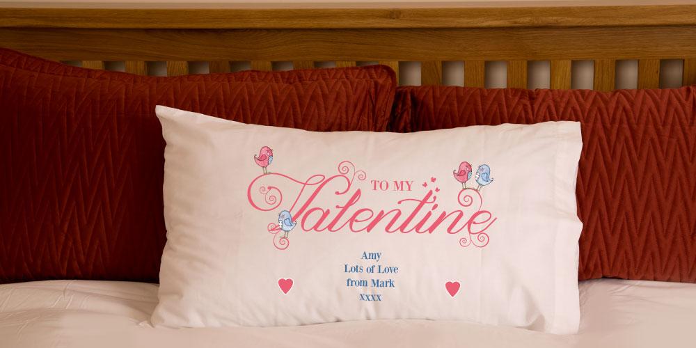 Valentines Day Love Birds Pillowcase