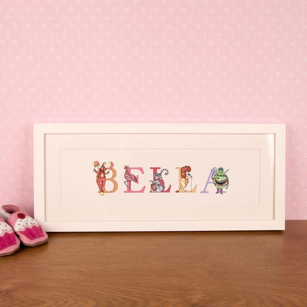 Children's Personalised Name Frame for Bedroom or Nursery