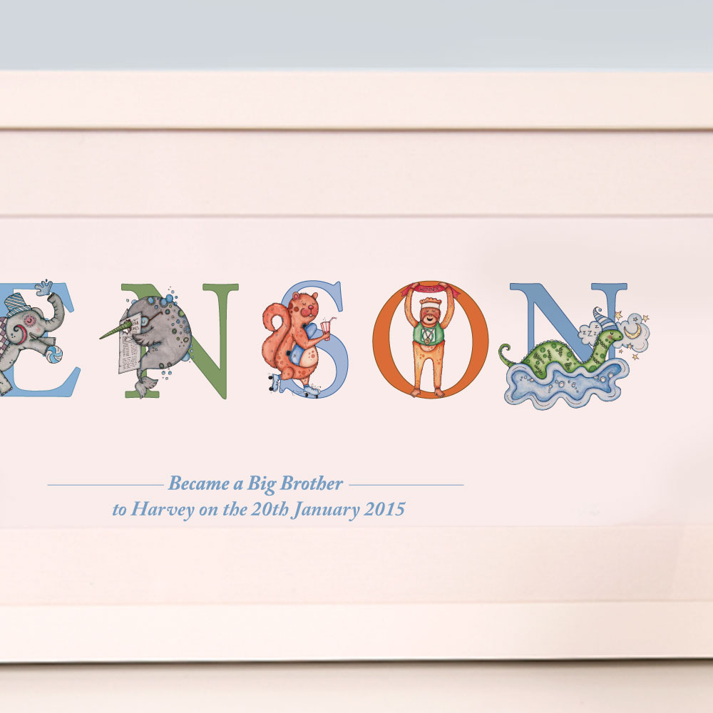Personalised Big Brother Gift from new Baby
